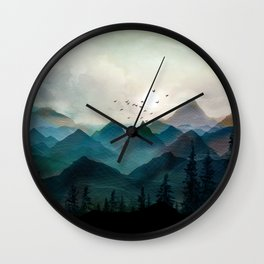 Mountain Sunrise II Wall Clock