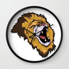 Royvel Lion Mascot Wall Clock