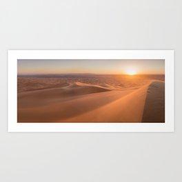 Merzouga's Sunset, Morocco. Art Print