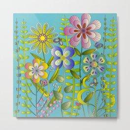 Petty Flowers Pattern 3 Metal Print
