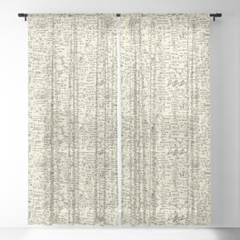 Physics Equations // Parchment Sheer Curtain