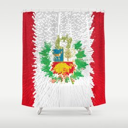 Extruded flag of Peru Shower Curtain
