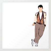 ferris bueller Art Prints featuring Ferris Bueller Graphic by jes.e