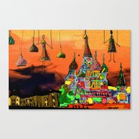 moscow Canvas Prints featuring Moscow  by sladja