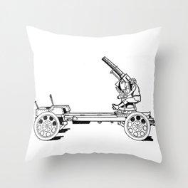 Anti-aircraft gun. Throw Pillow