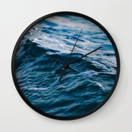 Blue Ocean Waves Wall Clock