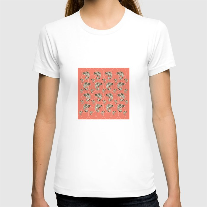 Chameleon Oneness in Midnight Vintage Psychedelic Salmon Space T-shirt