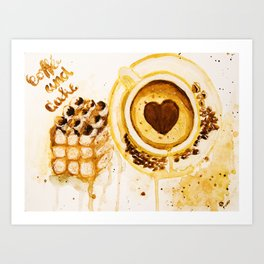 Caffee and cake Art Print