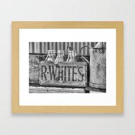 Antique lemonade Framed Art Print