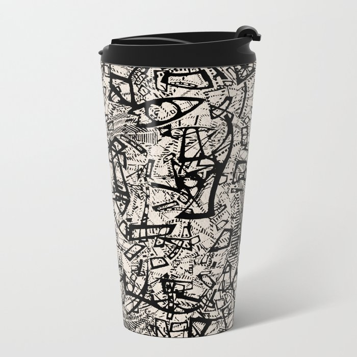 - newspaper - Metal Travel Mug