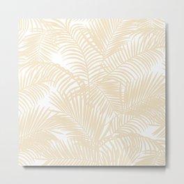 Modern tropical elegant ivory palm tree pattern Metal Print