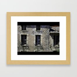 In France, by the window. Framed Art Print