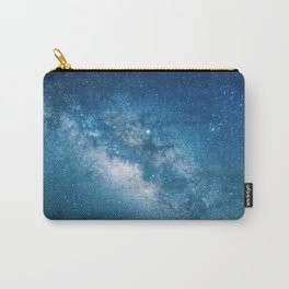 Blue Galaxy Billions Stars Carry-All Pouch