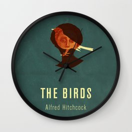 THE BIRDS - Hitchcok Poster Wall Clock