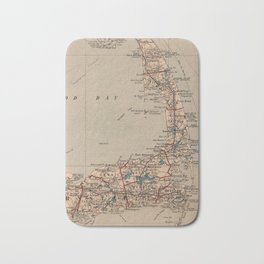 Vintage Map of Cape Cod MA (1905) Bath Mat