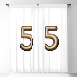 Chocolate Number 5 Blackout Curtain