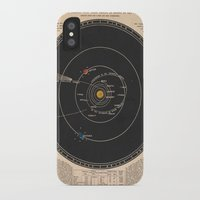solar system iPhone & iPod Cases featuring Solar System by Le petit Archiviste