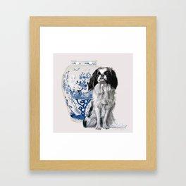 Japanese Chin Framed Art Print