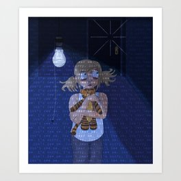 Something Knocks Art Print
