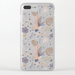 Docile Fossil Clear iPhone Case