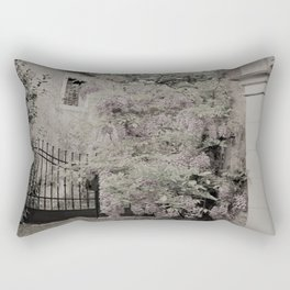 old village garden Rectangular Pillow