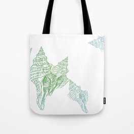 Shells Coloured Tote Bag
