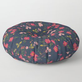 Pink Floral Floor Pillow