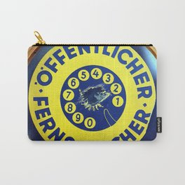 Sign Public Phone 1962 Carry-All Pouch