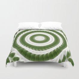 Green White Kaleidoscope Art 8 Duvet Cover