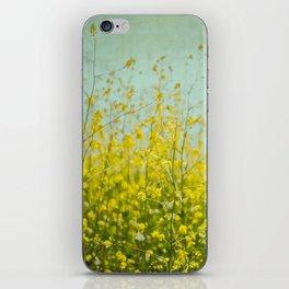 Wildflowers - Mustard Plant iPhone Skin