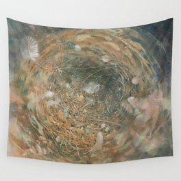 Nest and Feathers Wall Tapestry