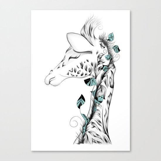 Poetic Giraffe Canvas Print