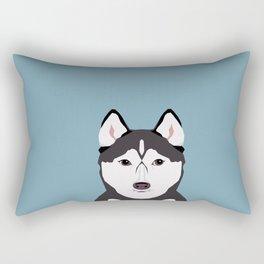 Shiloh - Husky Siberian Husky dog art phone case perfect gift for dog people Rectangular Pillow