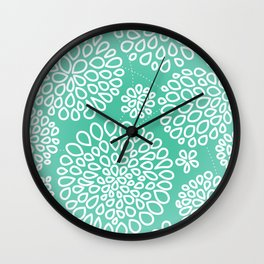 Peppermint Dandelions Wall Clock