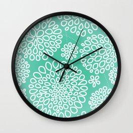 Peppermint Dandelions Wall Clock