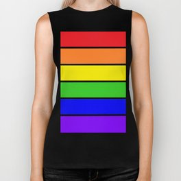 RAINBOW stripes Biker Tank