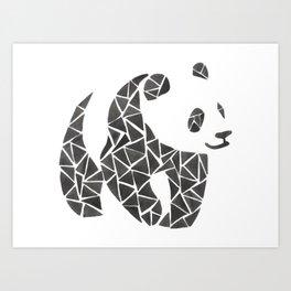 Geometric panda Art Print