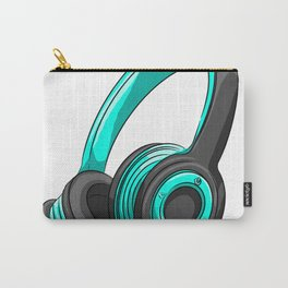 Blue and black headset Carry-All Pouch