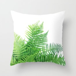 Beautiful Fern bouquet Throw Pillow
