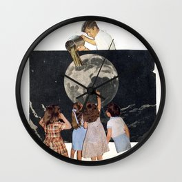 The man who fills the moon Wall Clock