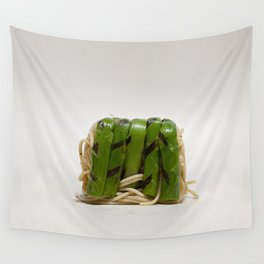 Asparagus noodle lunchbox Wall Tapestry