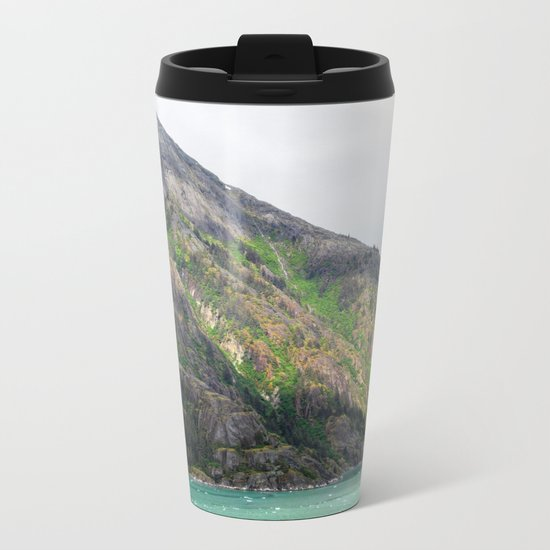 Sunlit Mountain Metal Travel Mug