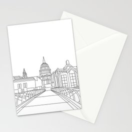St Paul's Cathedral from Millennium Bridge, London Stationery Cards
