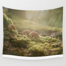 Mountain Mushrooms Wall Tapestry
