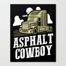 Asphalt Cowboy | Trucker Canvas Print