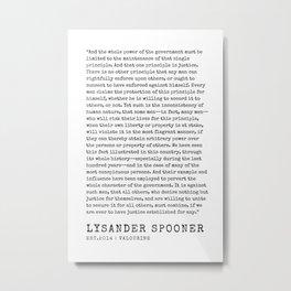 24    | Lysander Spooner | Lysander Spooner Quotes | 200608 Metal Print