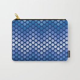 Dot Chevron: Navy Carry-All Pouch