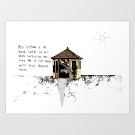 Mel Gibson is in your shed Art Print