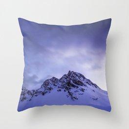 Good Night Alps Throw Pillow