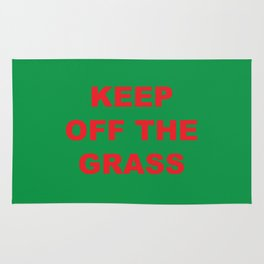 keep off the grass  Rug